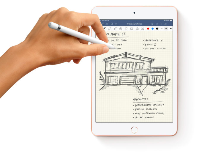 Naujasis iPad mini palaiko Apple Pencil