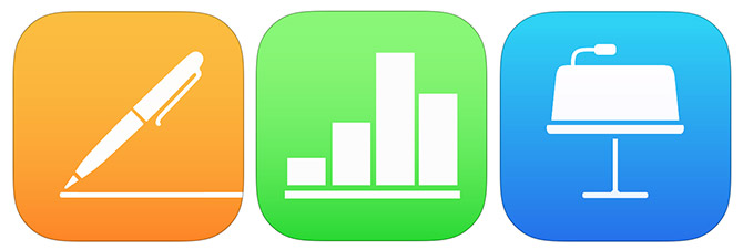 iWork 2 aplikacijos skirtos iOS: Pages, Numbers, Keynote