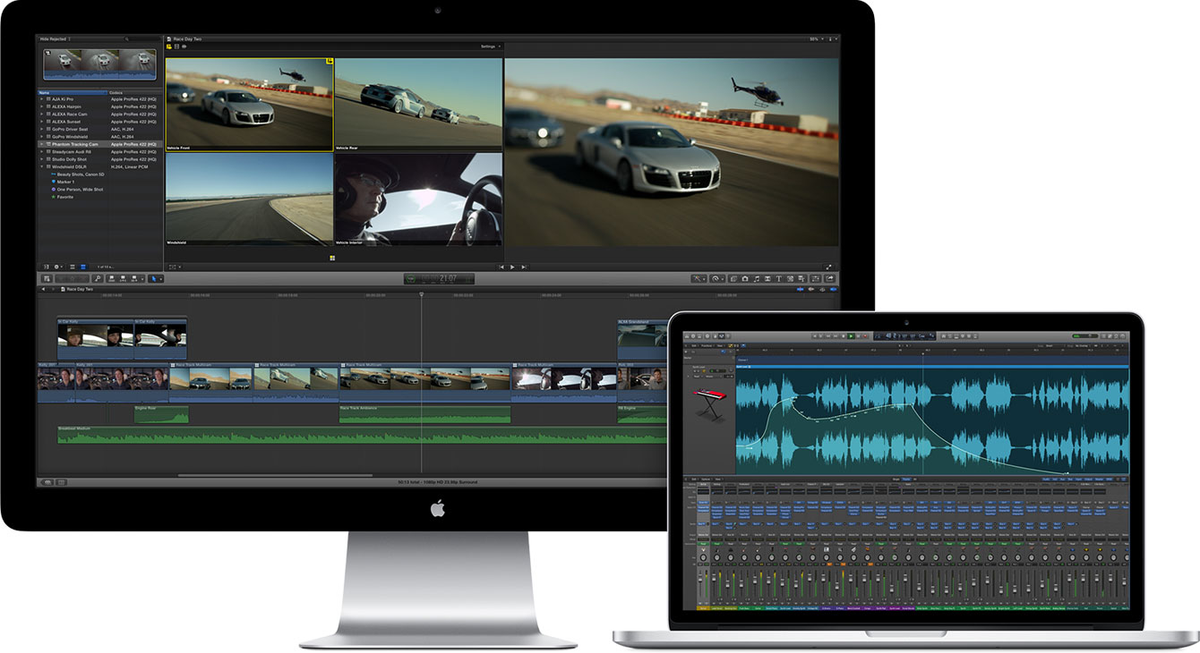 iMac, MacBook Pro video ir audio redagavimas