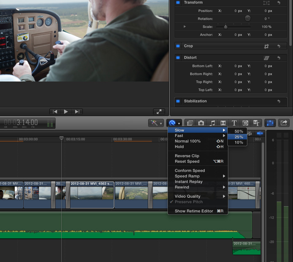 Final Cut Pro X slow motion