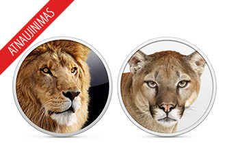 Apple atnaujino OS X Lion ir OS X Mountain Lion