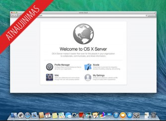 Apple atnaujino OS X Server (3.1.2)
