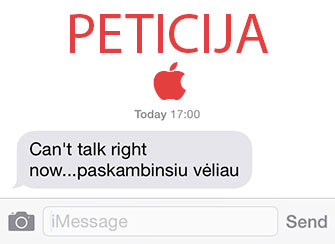 "Peticija Apple dėl ""Respond with text"" funkcijos"