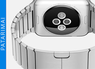 Kaip nufotografuoti Apple Watch ekraną