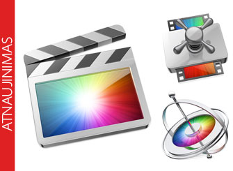 Apple atnaujino Final Cut Pro X, Motion ir Compressor aplikacijas