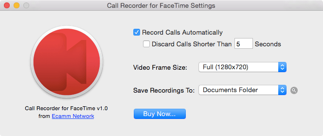 "OS X aplikacija ""Call Recorder for faceTime"""