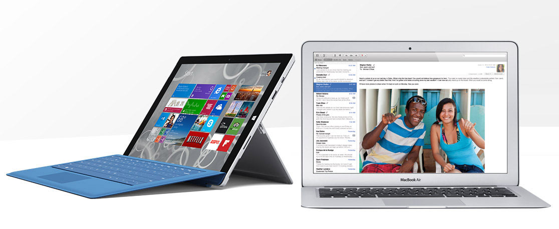 Microsoft Surface Pro 3 vs Apple MacBook Air