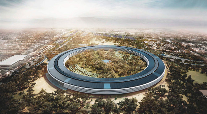 """Apple Campus 2"" - ""Apple"" biuras miestelis"