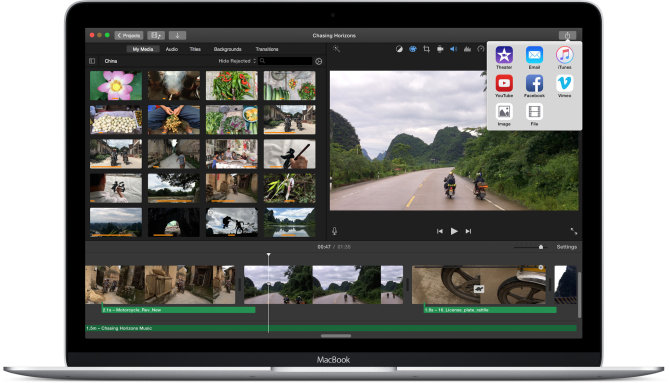 """iMovie"" aplikacija skirta ""Mac OS X"""