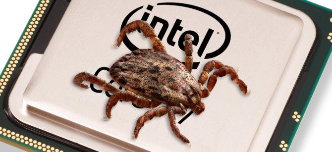Intel procesoriaus klaida