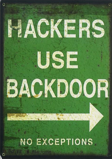 Hackers use backdoor