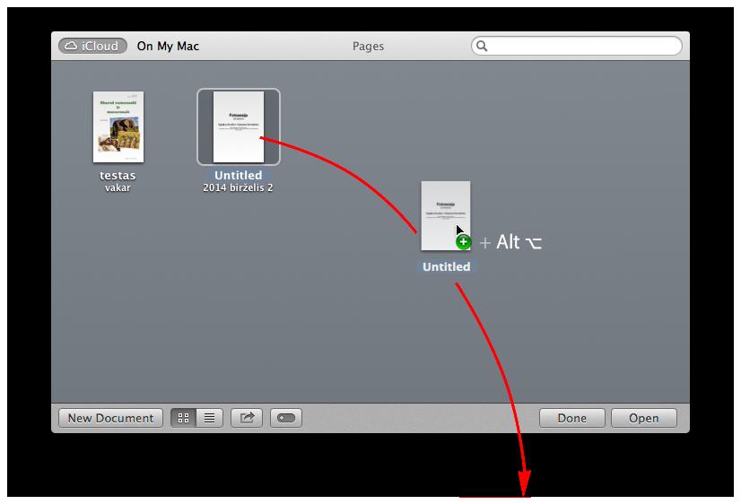 Norėdami padaryti failų kopiją (copy), o ne juos perkelti (move) - pažymėję failus nuspauskite Alt klavišą ir tada failus pertempkite į kompiuterį