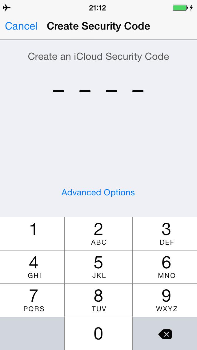 iCloud Keychain apsaugos kodas