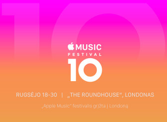 "Paskelbta 10-to ""Apple Music Festival"" data"