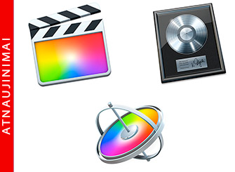 Apple atnaujino Final Cut Pro X, Logic Pro X ir Motion