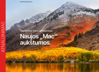 Apple išleido macOS High Sierra 10.13.6