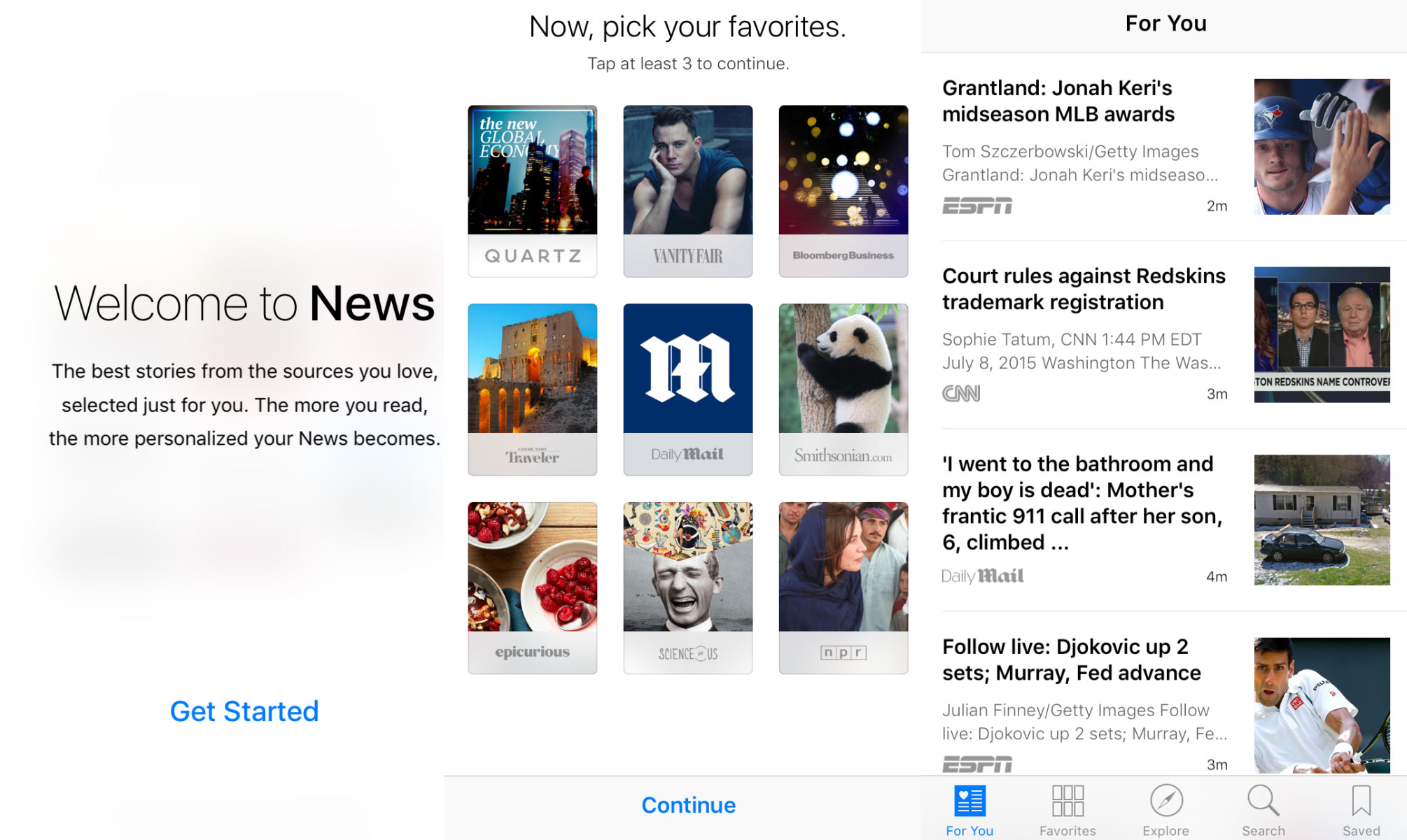 iOS 9 beta 3 nauja News aplikacija