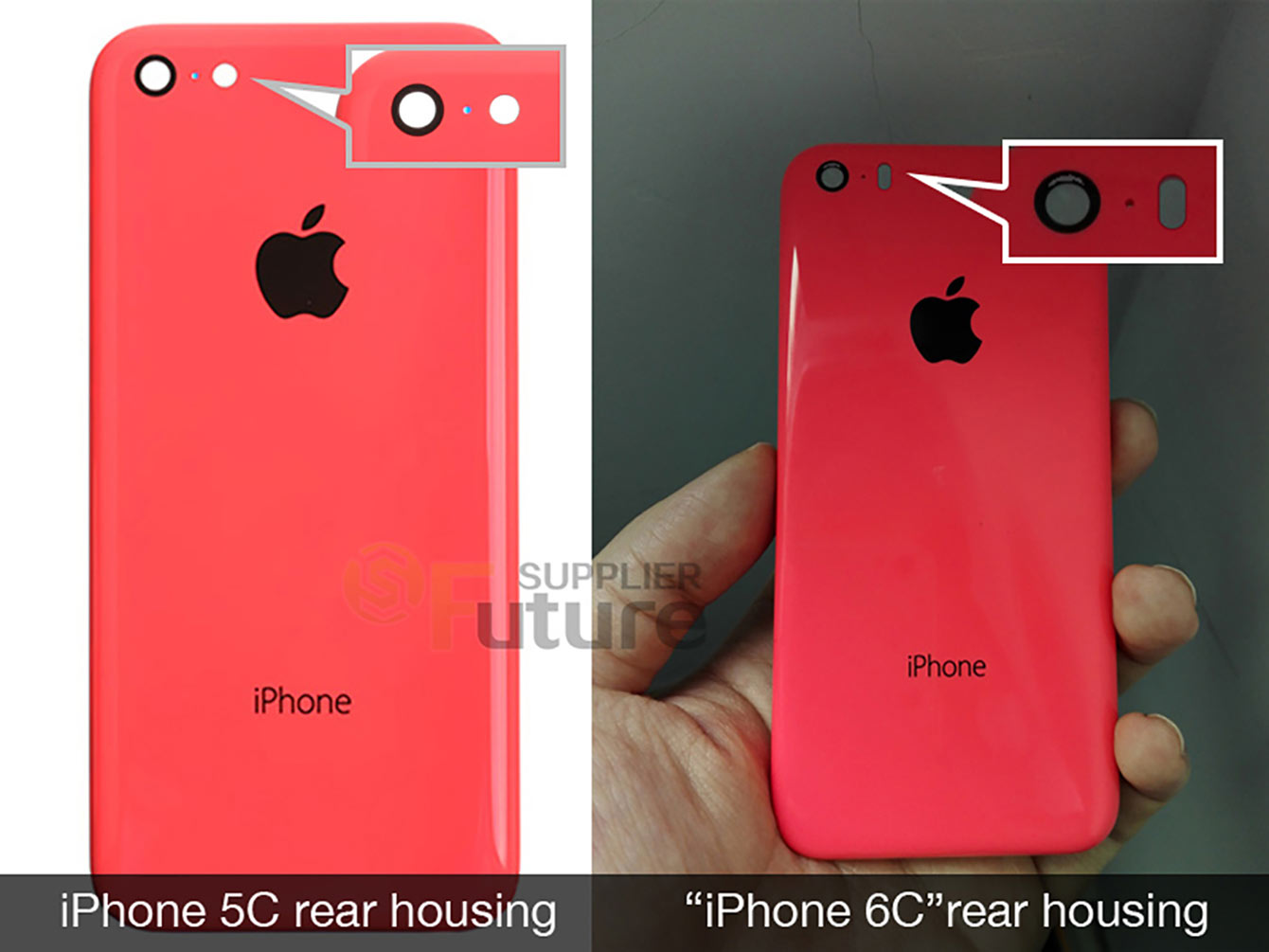iPhone 6 vs iPhone 6c korpusas - gandai