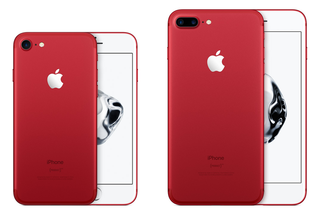 (PRODUCT)RED iPhone 7 ir iPhone 7 Plus