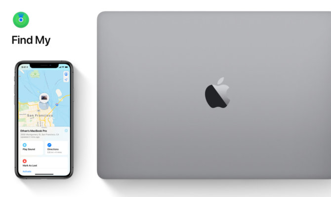 macOS Catalina Find My