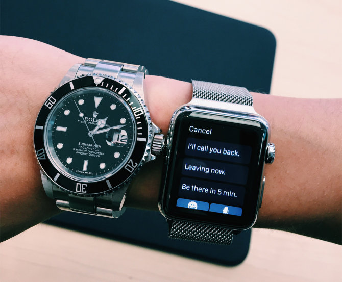 Rolex ir Apple Watch