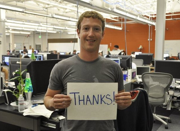 Zuckerberg Tthanks!